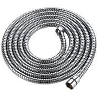 HOMELODY High Quality 3 Metre Long Stainless Steel Double Interlock Shower Hose 1/2 Inch, Chrome