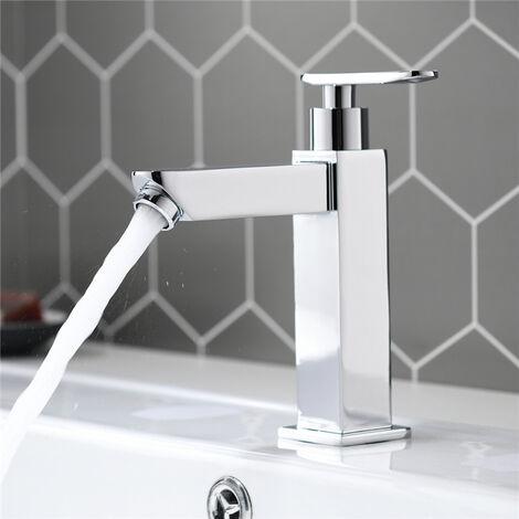 HOMELODY Rubinetto del rubinetto della lavata della mano del rubinetto di acqua fredda del cromo del rubinetto del bagno