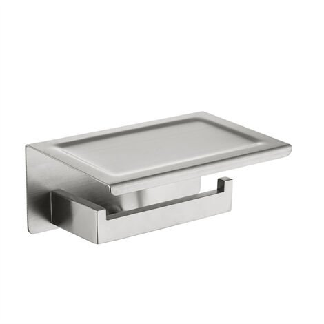 HOMELODY Toilet Roll Holder with Shelf SS304 Stainless Steel