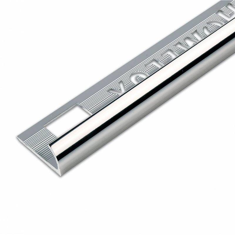 Image of aluminium silver effect tile trim 12.5mm - Homelux