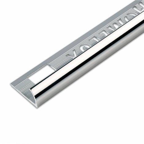 Homelux aluminium silver effect tile trim 12.5mm
