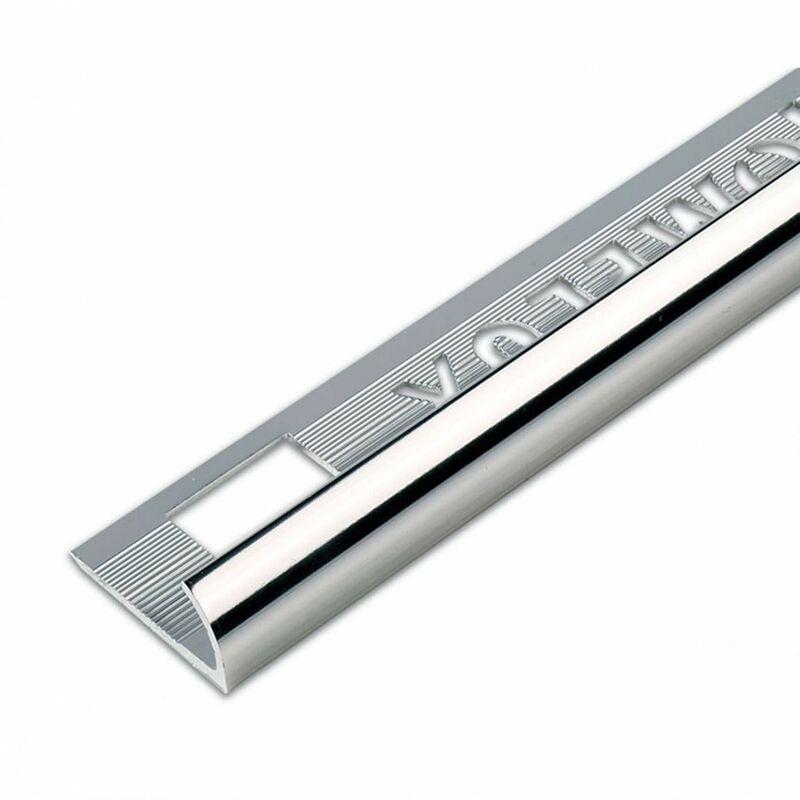 Image of aluminium silver effect tile trim 9mm - Homelux