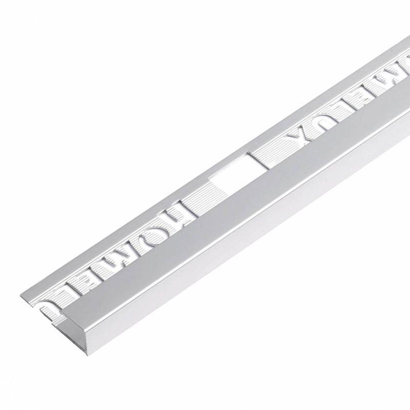 Image of aluminium square silver effect trim 9mm - Homelux