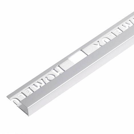 Homelux aluminium square silver effect trim 9mm