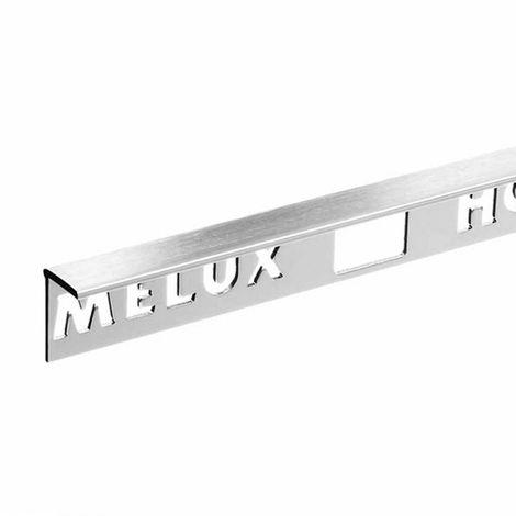 Homelux aluminium stainless steel effect tile trim 10mm