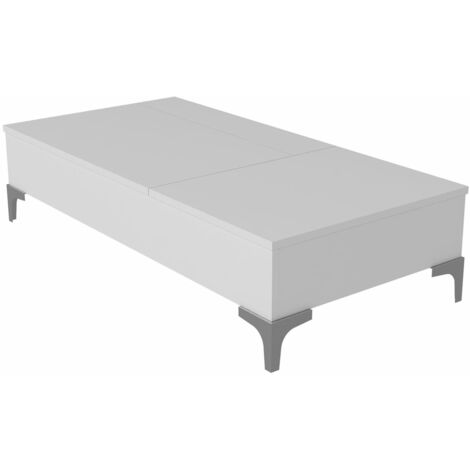 Homemania Mesa de centro Delinda blanca 121x60x30 cm - Blanco