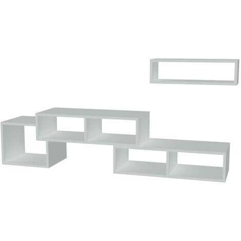 Homemania Meuble TV Armonia 170x29,5x41,8 cm Blanc