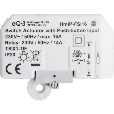 """main image of """"Homematic IP Actionneur de commutation maison intelligente avec entrée de bouton-poussoir – encastré"""""""