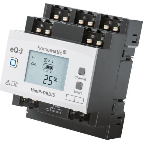 """main image of """"Homematic IP Actionneur variateur maison intelligente pour montage sur rails – 3 niveaux, reliez jusqu'à 3 sources de lumières différentes sur des canaux indépendants"""""""