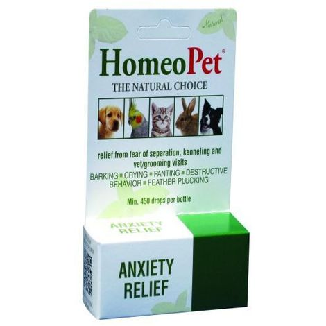 HomeoPet Homeopathic Pet Anxiety Relief Liquid (15ml) (May Vary)