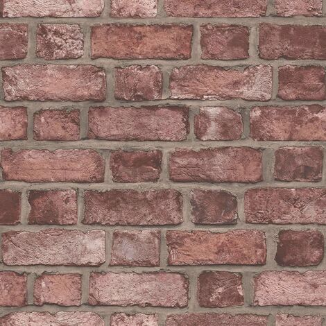 Homestyle Wallpaper Brick Wall Red - Red