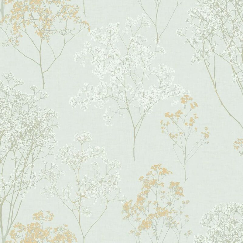 Image of Wallpaper Herbs and Flowers Green and Beige - Multicolour - Homestyle