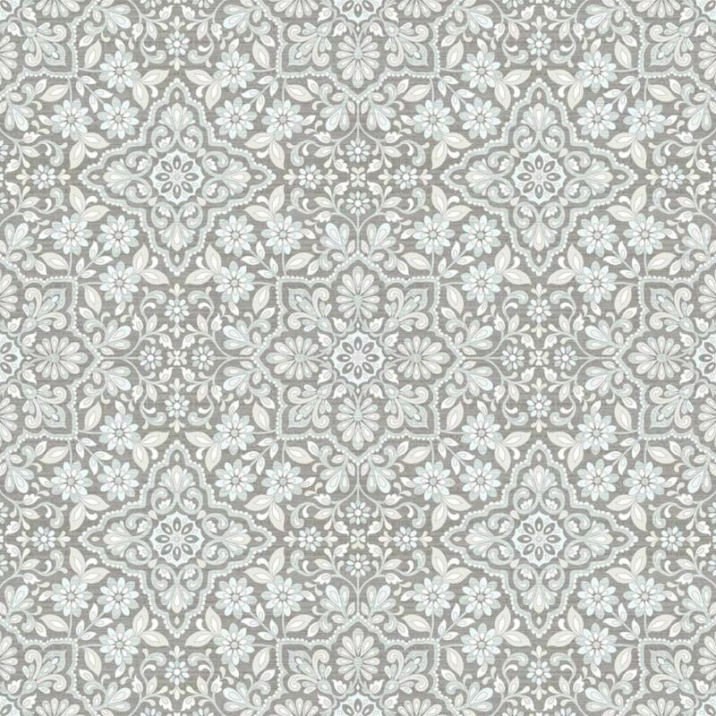Image of Homestyle Wallpaper Portugese Tiles Grey - Multicolour
