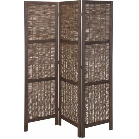 Home&Styling Room Screen Wood and Willow Dark Brown - Brown