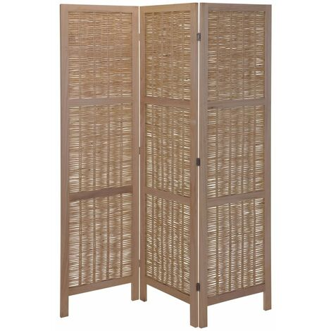 Home&Styling Room Screen Wood and Willow Light Brown - Brown