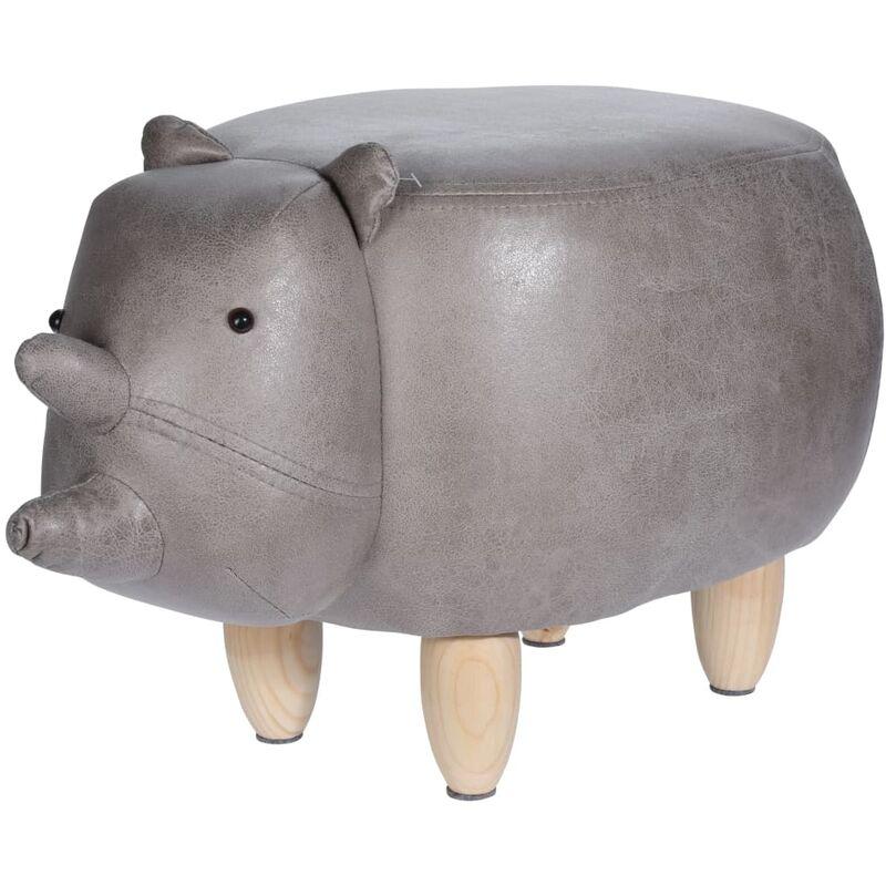 Home&styling sgabello 64x35 cm a forma di rinoceronte
