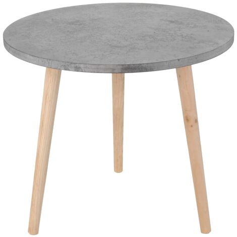 Home&Styling Side Table MDF Grey 42.5x49.5 cm