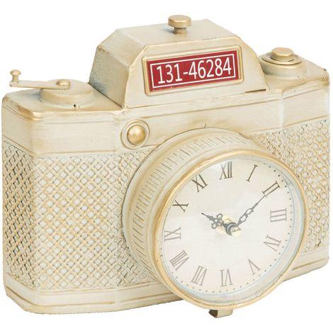 Hometime Mantel Clock Cream Camera