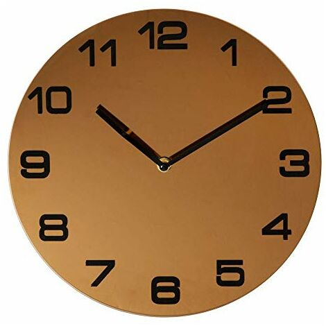 """main image of """"Hometime Rose Gold Finish Round Wall Clock Arabic Dial"""""""