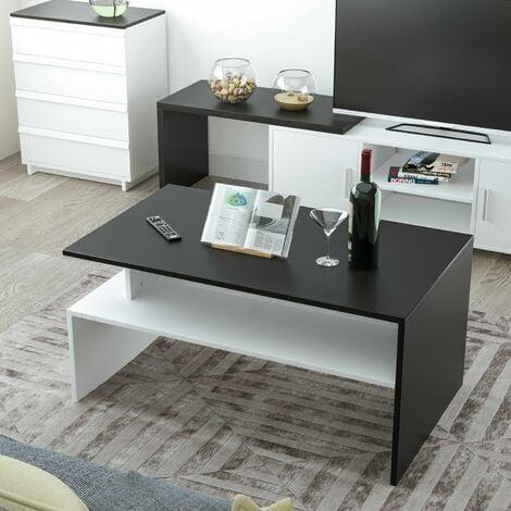 "main image of ""Homfa Modern Rectangle Coffee Table Living Room Furniture w/Lower Shelf Lounge Tables"""