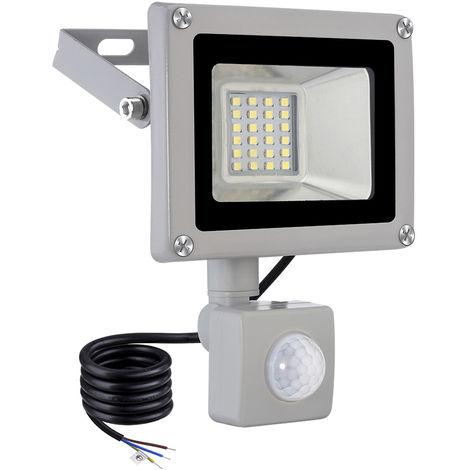 Hommoo 1 Piece 20W LED Floodlight SMD Outdoor Lamp Mit Bewegungsmelder Cool white