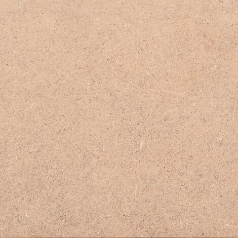 Hommoo 10 pcs MDF Sheets Rectangular 120x60 cm 2.5 mm QAH05306