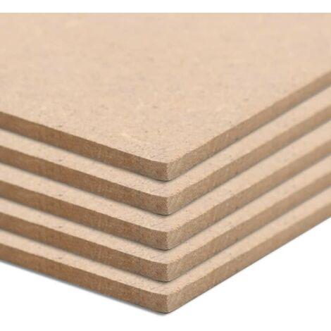 Hommoo 10 pcs MDF Sheets Square 60x60 cm 2.5 mm VD05303