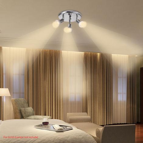 Hommoo 10 Piece LED Three Head Spotlights LLDDE-MC0030610X10