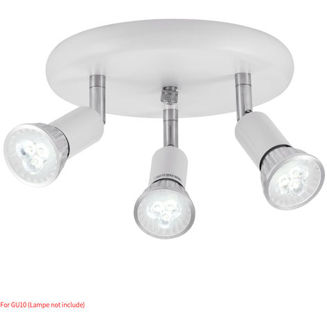 Hommoo 10 Piece LED Three Head Spotlights LLDDE-MC0030612X10