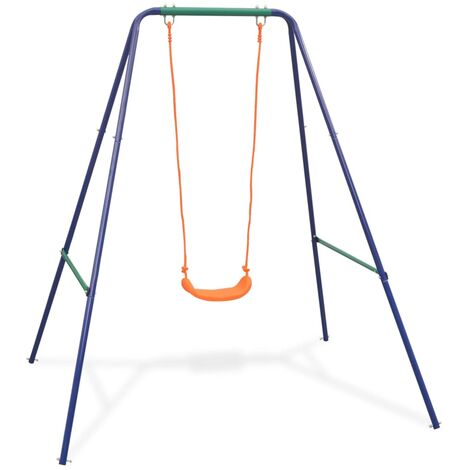 Hommoo 2-in-1 Single Swing and Toddler Swing Orange QAH32445
