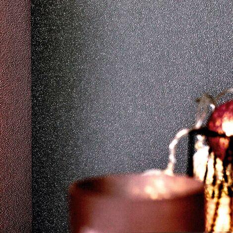 Hommoo 2 pcs Wallpaper Rolls Plain Shimmer Dark Grey 0.53x10 m VD35515