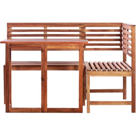 Hommoo 2 Piece Bistro Set Solid Acacia Wood QAH28259