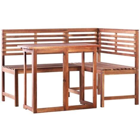 Hommoo 2 Piece Bistro Set Solid Acacia Wood VD28259