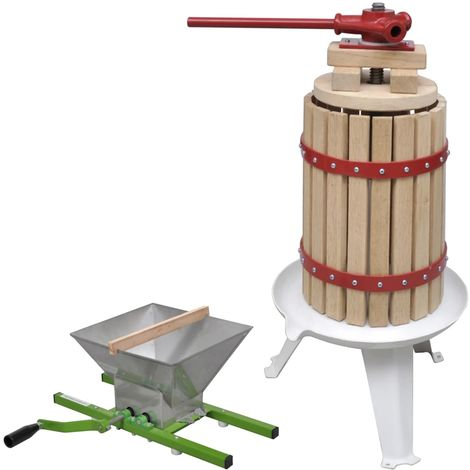 Hommoo 2 Piece Fruit & Wine Press and Crusher Set
