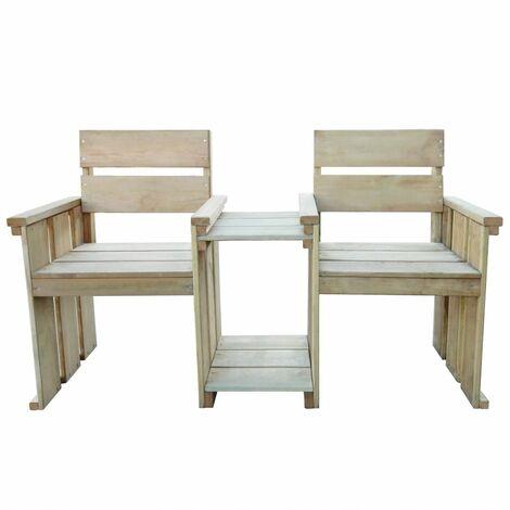 Hommoo 2 Seater Garden Bench 150 cm Impregnated Pinewood QAH27622