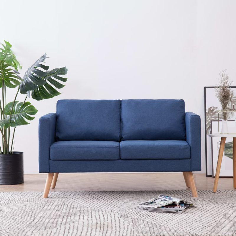 2-Sitzer-Sofa Stoff Blau VD22954 - Hommoo