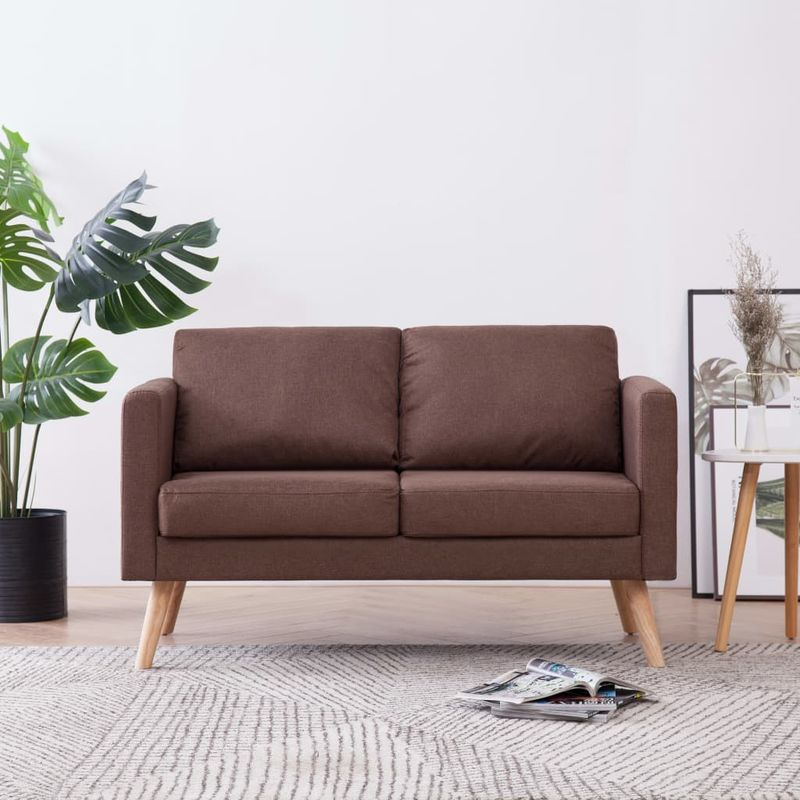 2-Sitzer-Sofa Stoff Braun VD22952 - Hommoo