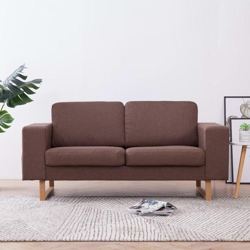 2-Sitzer-Sofa Stoff Braun VD22982 - Hommoo