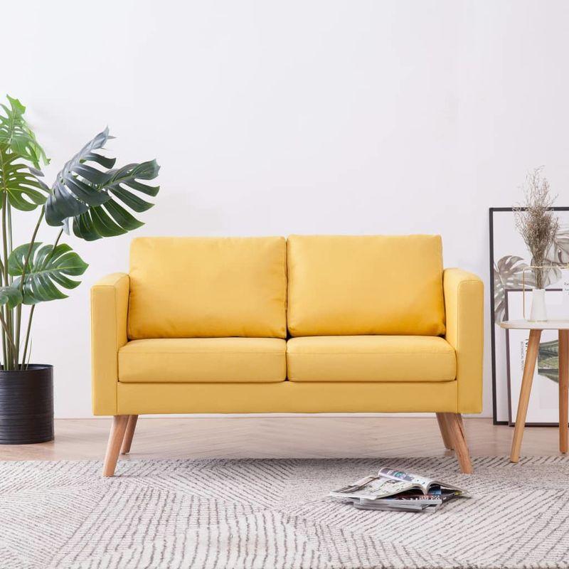 2-Sitzer-Sofa Stoff Gelb VD22960 - Hommoo