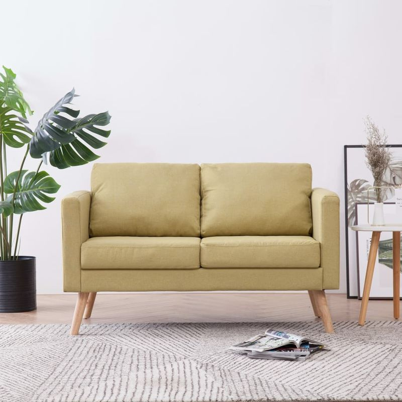 2-Sitzer-Sofa Stoff Grün VD22956 - Hommoo