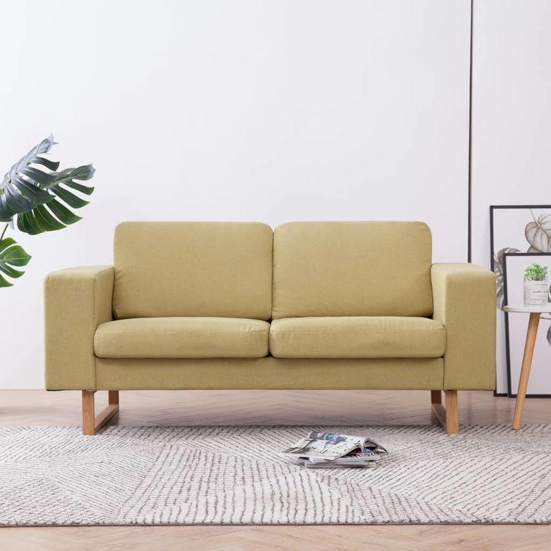 2-Sitzer-Sofa Stoff Grün VD22986 - Hommoo
