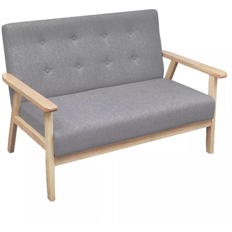 2-Sitzer-Sofa Stoff Hellgrau VD09151 - Hommoo