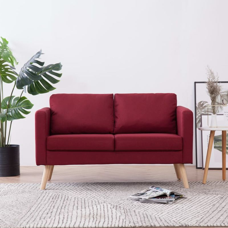 2-Sitzer-Sofa Stoff Weinrot VD22962 - Hommoo