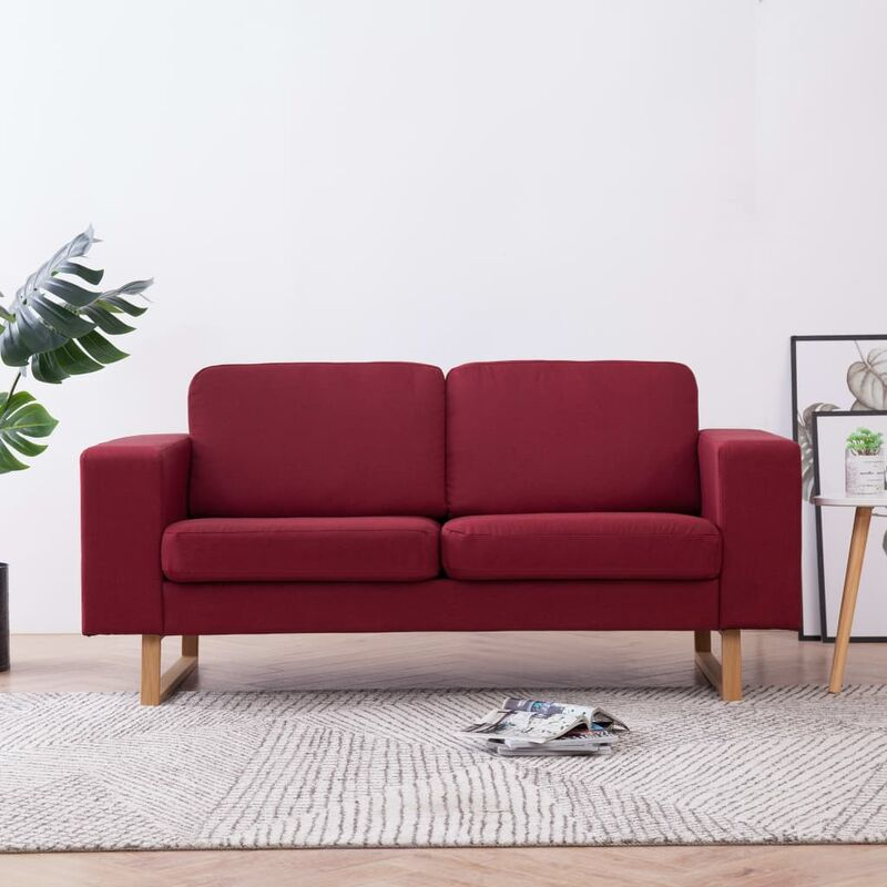 2-Sitzer-Sofa Stoff Weinrot VD22992 - Hommoo