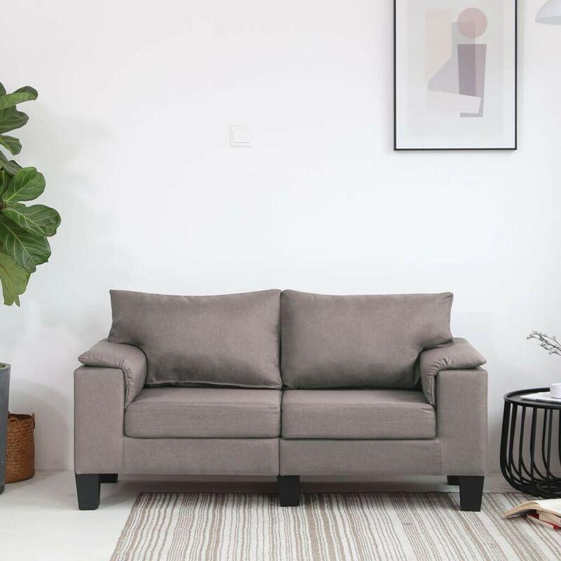 2-Sitzer-Sofa Taupe Stoff VD37129 - Hommoo