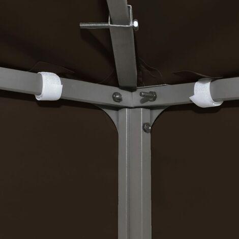 Hommoo 2-Tier Gazebo Top Cover 310 g/m2 3x3 m Brown QAH30030