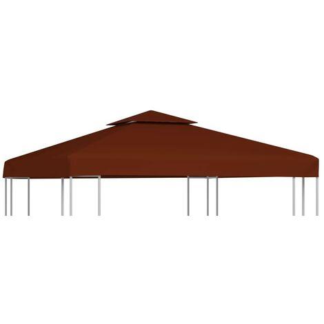 Hommoo 2-Tier Gazebo Top Cover 310 g/m2 3x3 m Terracotta VD30031