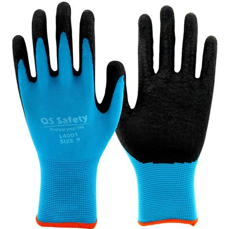 Hommoo 3 Pairs Garden Gloves and Work Protection in Polyester Fiber with Latex Coating - Different size available