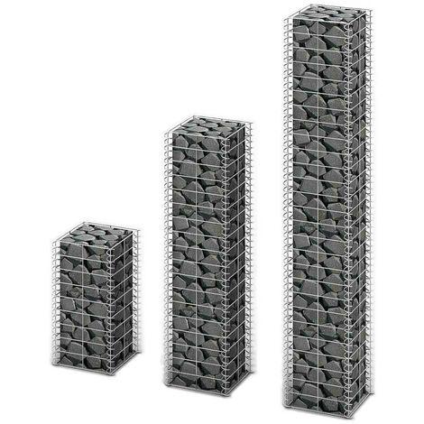 Hommoo 3 Piece Gabion Set Galvanised Wire