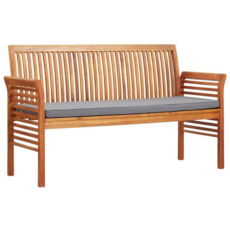 3-Sitzer Gartenbank mit Kissen 150 cm Massivholz Akazie VD29945 - Hommoo